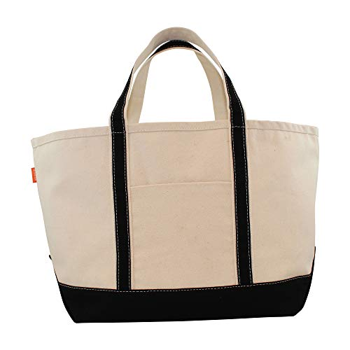 Price comparison product image CB Station - Boat Tote Large- BLACK Canvas Bag
