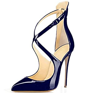 elashe- Scarpe da Donna - Scarpe col Tacco - Classiche Scarpe col Tacco - Talloni Cinghia Trasversale 21 spesavip