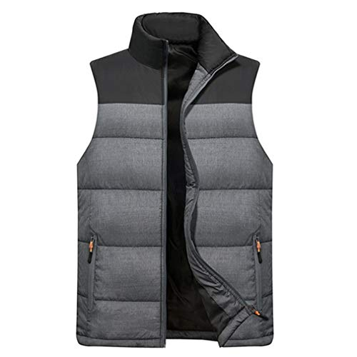 35efe440d6e MEI Guihua Men s Down Vest Sleeveless Warm Thick Coats Cotton-Padded Gilet  Vests at Amazon Men s Clothing store
