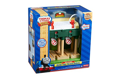 Fisher-Price Thomas & Friends Wooden Railway, Deluxe Over-The-Track Signal - Battery Operated