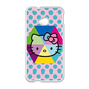 Cute TPU Hello Kitty Spots HTC One M7 Cell Phone Case White