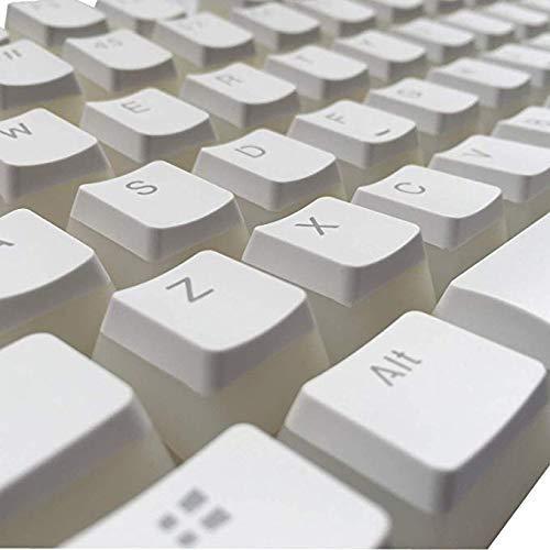 Double Shot PBT Keycaps SENREAL 104 Pudding Backlit Keycaps Cherry MX Key Caps OEM Profile Top Print Keycaps Set for 61/87/104 Mx Switches Mechanical Gaming Keyboard(ANSI/ISO Layout)