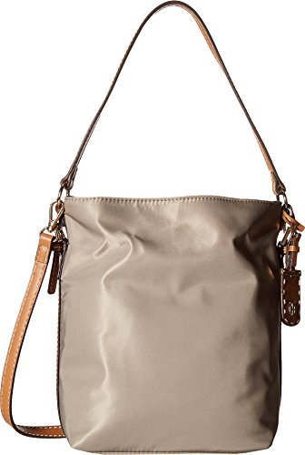 Tommy Hilfiger Women's Julia Convertible Solid Nylon Hobo Khaki One Size by Tommy Hilfiger