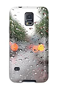 Galaxy S5 Case Cover - Slim Fit Tpu Protector Shock Absorbent Case (water Drop)