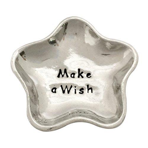 Make A Wish Star Shaped Small Pewter Jewelry Trinket Dish ()