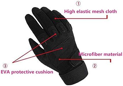 Guantes t/ácticos para Hombre Qiu Ping Antideslizantes, Resistentes al Desgaste, con Dedo Completo
