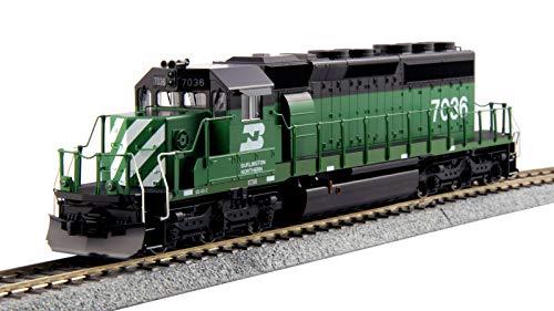 Kato USA Model Train Products HO EMD #7036 SD40-2 Mid Burlington Northern Standard Train
