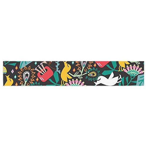 (Kess InHouse Agnes Schugardt Folk Fusion Rainbow Abstract Table Runner)