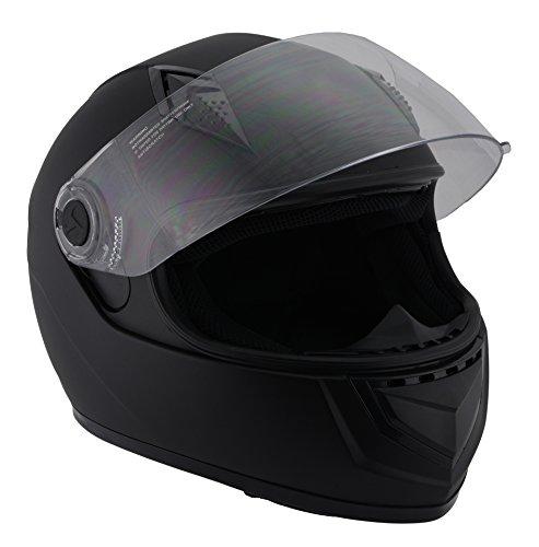 Milwaukee Performance Helmets Unisex-Adult Full face Velocity Helmet (Matte Black, Large)