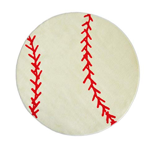 Sports Ball Shape Area Rug - Rugs 4 Less Collection ()