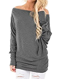 Jaycargogo Womens Cut Out Loose Pullover Criss Cross Backless Sweater