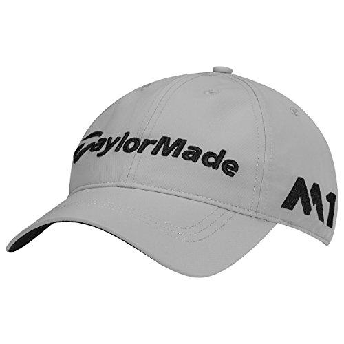 (TaylorMade 2017 LiteTech Tour Authentic Unstructured Hat Mens Golf Cap-Adjustable Grey)