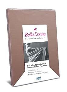 Belladonna - Sábanas bajeras, punto de algodón, jerséy, Trüffel, 140 cm x 200 cm