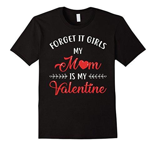 Funny Valentines Day Shirt Mom Is My Valentine Boy Girl Kids