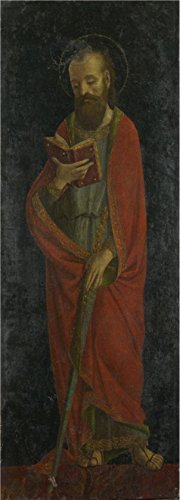 Perfect Effect Canvas ,the Best Price Art Decorative Prints On Canvas Of Oil Painting 'Style Of Ambrogio Bergognone-Saint Paul,late 15th Century', 12x33 Inch / 30x85 Cm Is Best For Study Decor And Home Artwork And Gifts