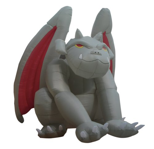 Gargoyle Lawn Ornaments (8 Foot Huge Halloween Inflatable Gargoyle Monster Yard Decoration)