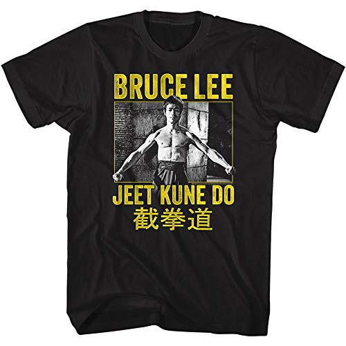 Bruce Lee Chinese Martial Arts Icon Using No Way As Way Adult T-Shirt Tee Black