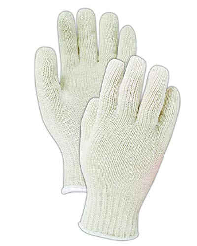 Magid Safety KnitMaster T1932C Gloves | 7-Gauge Ambidextrous Medium Weight Cotton/Polyester Blend Knit Gloves with an Insulated Liner - Medium, Natural (12 Pairs) ()