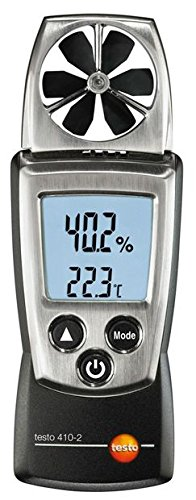 Testo 410-2 Digital Pocket Vane Anemometer, 0.4 to 20 m/s Velocity, -10 to +50° C Temperature, 0 to 100% RH