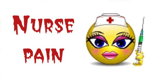 - Airbrush License Plate - Smiley Nurse Pain- #1566