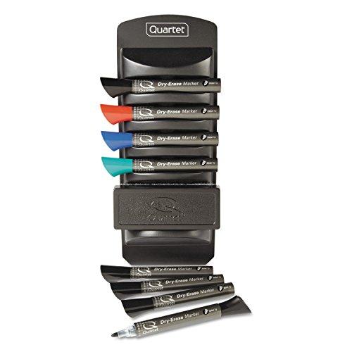 Quartet 558 Dry Erase Marker Caddy Kit, Chisel Tip, 8 Chisel-Tip Markers, Assorted