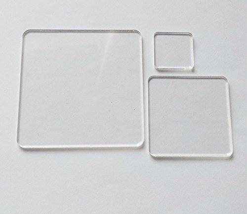 20PCS Blank Clear Acrylic Square Material,Plexiglass Laser Cut Square Sheet with Round Corners, DIY Accessory 1/8