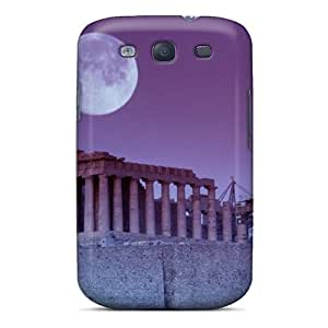 Slim Fit Tpu Protector Shock Absorbent Bumper Greek Fullmoon 3 Case For Galaxy S3