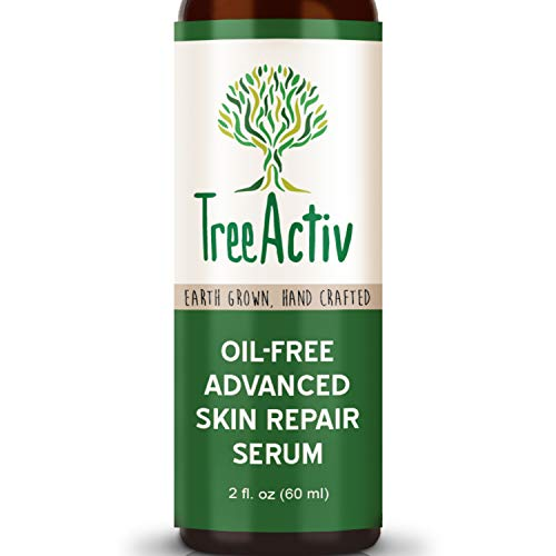 TreeActiv Oil-Free Advanced Skin Repair Serum | Hyaluronic Acid | Anti-Wrinkle | Anti Aging | Scar Gel | Revitalize Face and Skin | Collagen Booster | Healthy Natural Moisturizer | - Skin Repair Natural