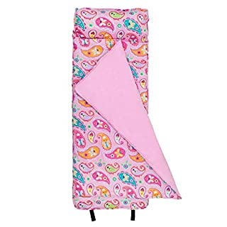 Wildkin Original Nap Mat with Pillow for Toddler Boys and Girls, Measures 50 x 20 x 1.5 Inches, Ideal for Daycare and Preschool, Mom's Choice Award Winner, BPA-Free, Olive Kids (Paisley)