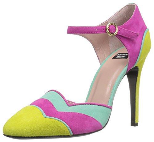 Boutique Moschino Women's Clarissa Pump, Purple/Acqua/Yellow, 38 EU/8 M US