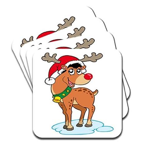 Rudolph La Renna Di Babbo Natale.Rudolph La Renna Dal Naso Rosso Con Cappello Di Babbo Natale Set Di