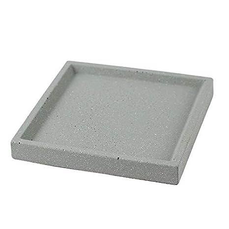 Nicole Molde hecho a mano cuadrado de la bandeja del cemento del molde del silicón de la placa concreta: Amazon.es: Juguetes y juegos