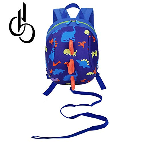 (DB Dinosaur Toddler Mini Backpack with Leash, Anti-Lost Children Backpack, Kid snak Cartoon Backpack for Toddler Boys Girls 1-2 Years Old)