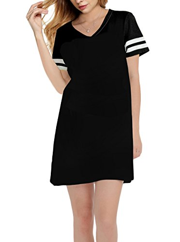 Womans Loungewear (SWISSWELL Summer Dresses For Women/Nightshirt Plus Size Black 3X-Large)