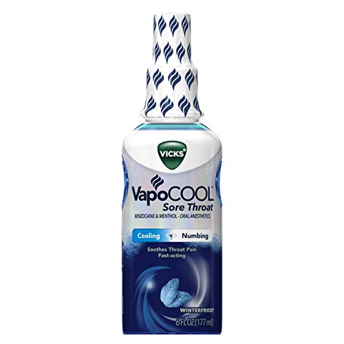 Vicks Vapocool Sore Throat Spray, Relieves Painful Sore Throat, Fast-Acting, 6 Ounce