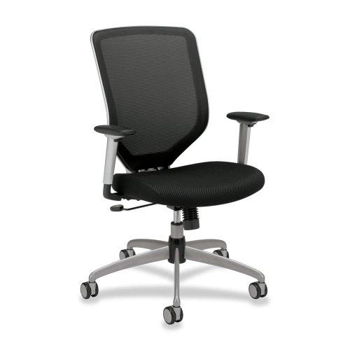 Hon High-back Swivel Mesh Task Chairs-High-back Mesh Chair, 27-3/4''x35-1/2''x44'', Black
