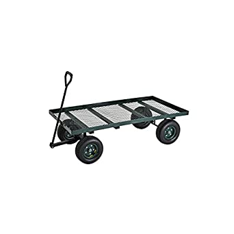 "Sandusky Lee FW6036 Green Heavy Duty Steel Flat Wagon, 800 lbs Capacity, 60"" Length x 36"" Width x 17"" Height"