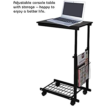Amazon Com Side Tables Cart Height Adjustable Desk With