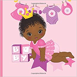 African American Princess Baby Shower Guest Book Beautiful African