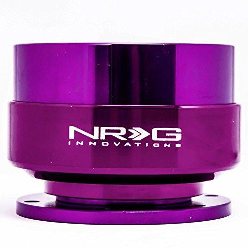 NRG Gen 2.0 Steering Wheel Quick Release Kit Purple Body with Purple Ring SRK-200PP