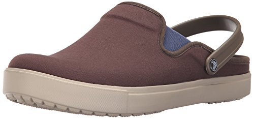Image of crocs Unisex Citilane Canvas Mule, Espresso/Cobblestone, 6 Women M US/4 Men M US