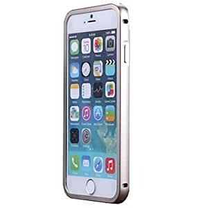 LCJ Exclusive Metal Borders Frame Space Aluminum Full Protection Cover Case For iphone 6 4.7(Assorted Colors) , Silver-Gray