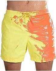 Guo Nuoen Temperature-Sensitive Color-Changing Beach Men Swimming Pants Sport Summer Swimsuit Surfing Swim Tru
