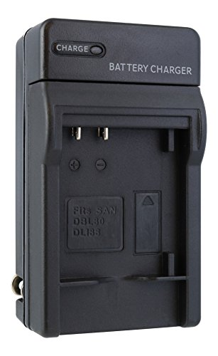 Sanyo DB-L80 Compact Battery Charger by TechFuel replaces VAR-L80 charger for Xacti VPC-GC10, VPC-GC20, VPC-X1250, VPC-X1400 cameras