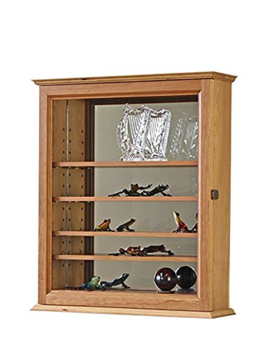 Mirror Back Curio Display Case- Cherry Hardwood *Made in the USA* (Counter Page Contemporary)