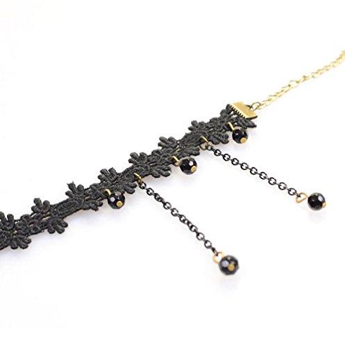 de dentelle Bracelet de Noir 3 Plage Accessoire Bracelets de pied Pieds Cheville Plage Pied vitrine Femme cheville Cdet Bijoux wpR8Iq