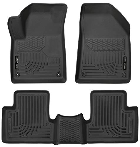 Husky Liners 99091 Black Weatherbeater Front & 2nd Seat Floor Liners Fits 2015-2019 Jeep Cherokee