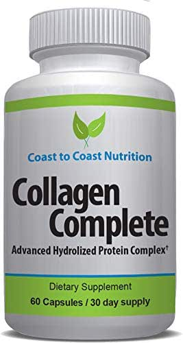 Hydrolyzed Collagen PEPTIDE Capsules | Anti-Aging Formula for Healthy Young Looking Skin & Hair, Strong Joints, Bones & Nails | Natural, Grass Fed, Organic Protein Supplement | 1500 mg