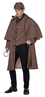 California Costumes English Detective Adult Sherlock Holmes Costume