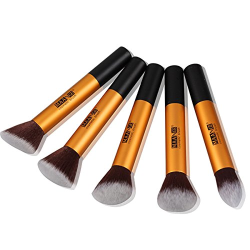 maange-5pcs-makeup-brushes-kit-set-foundation-blush-powder-cosmetics-color-gold